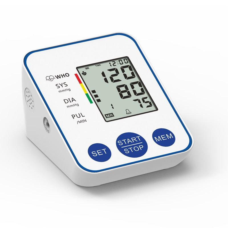 Blood Pressure Monitor Upper Arm Automatic Digital Blood Pressure Monitor Cuff Home BP Sphygmomanometers with Large LCD Display
