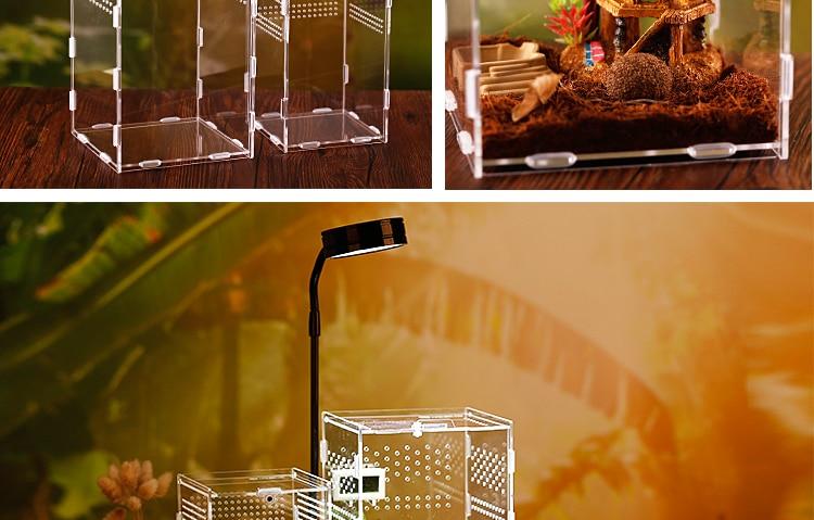 Reptile Breeding Box Acrylic Spider Lizard Scorpion Enti's Acrylic Assembled Transparent Insect Breathable Terrarium