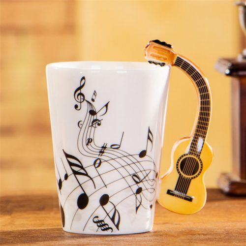 Guitar Mug 400ml Ceramic Mug