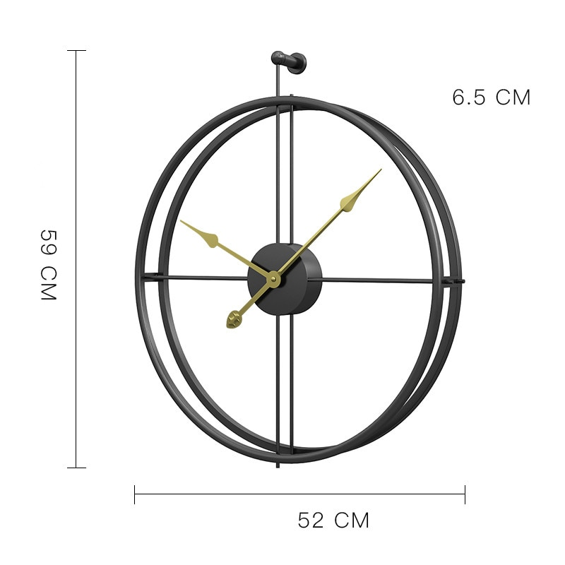 Large Vintage Metal Wall Clock Modern Design For Home Office Decor Hanging Watches Living Room Classic Brief European Wall Clock