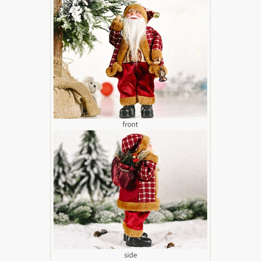 Santa Claus Decoration Decorative Desktop Santa Claus Figure Portable Lifelike Santa Doll Figurine Perfect Ornament dropshipping