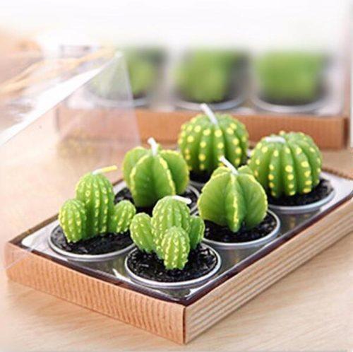 Cactus Candles Tea Light Candle (6pcs)