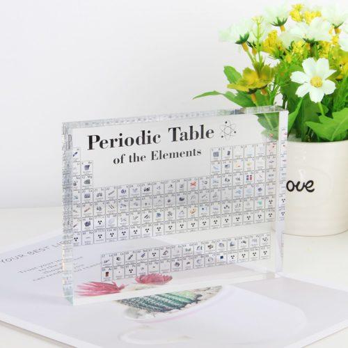 Acrylic Periodic Table Chemistry Tool