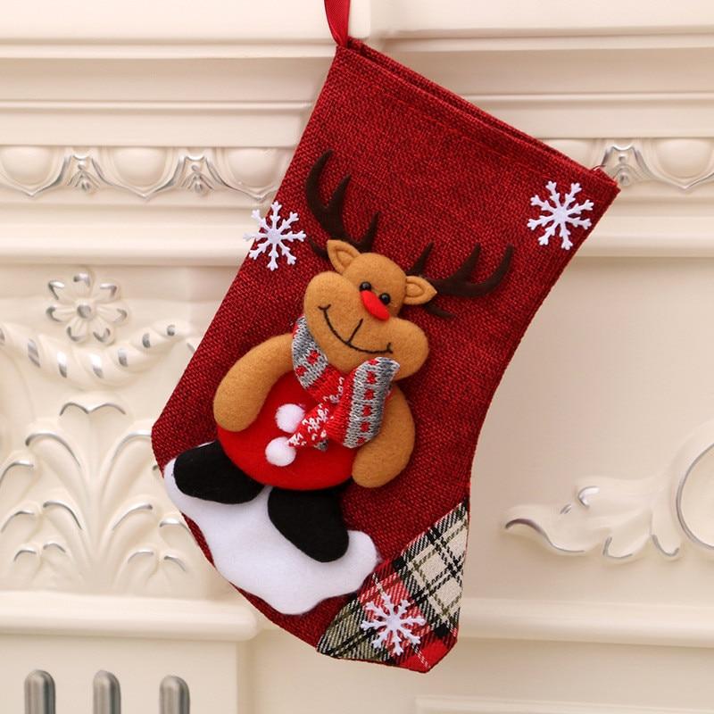 Xmas Pendant Ornaments Christmas Candy Gift Bag Christmas Stockings New Year Decoration navidad decoraciones para el hogar 2020