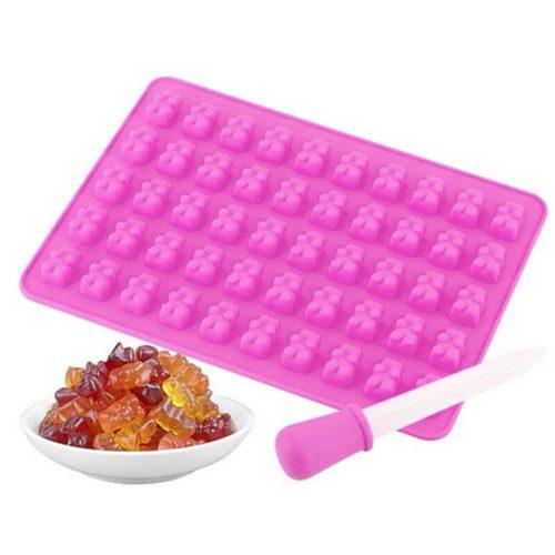 Gummy Bear Silicone Mold 50-Cavity Tray