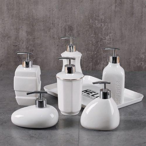 White Ceramic Soap Dispenser