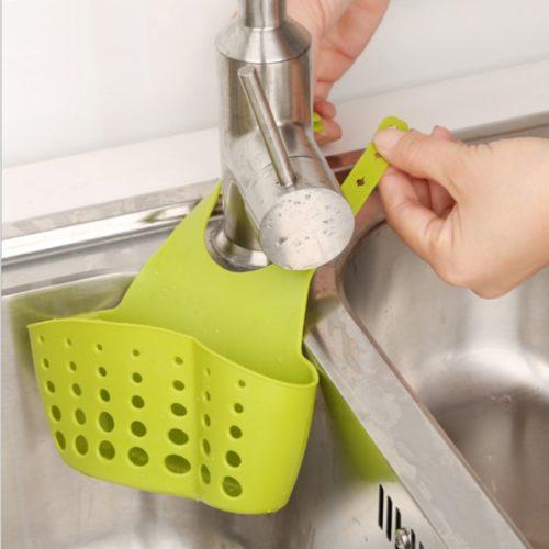 Sink Soap Holder Hanging Sponge Basket
