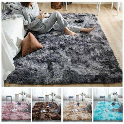 Furry Area Rug Faux Fur