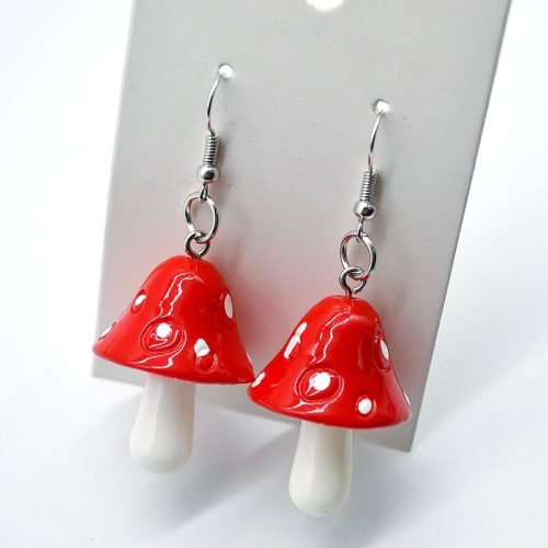 Mushroom Earrings Fashion Accessory