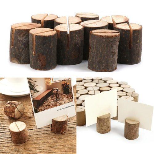 Wooden Menu Holders Mini Stumps (50pcs)