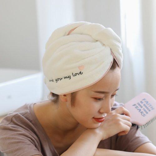 Fast Drying Hair Towel Super Absorbent Hair Cap