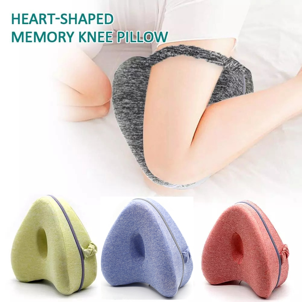 Orthopedic Pillow for Sleeping Memory Foam Leg Positioner Pillows Knee Support Cushion between the Legs for Hip Pain Sciatica