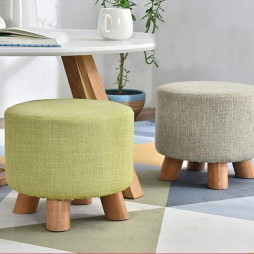 Upholstered Footrest Stool