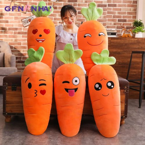 Carrot Pillow Cute Vegetable Stuffed Toy