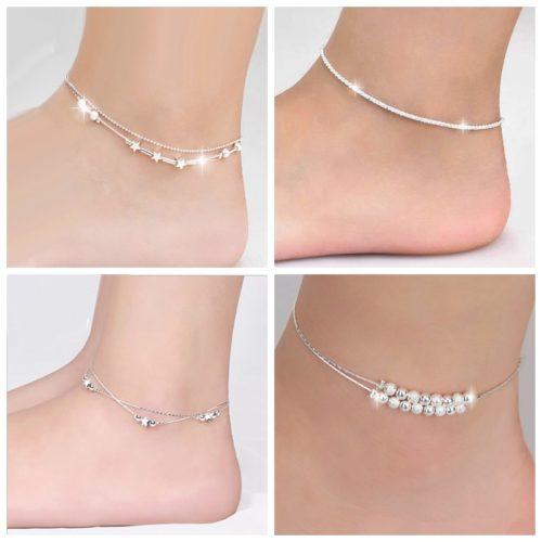 Womens Ankle Bracelet Silver Anklet