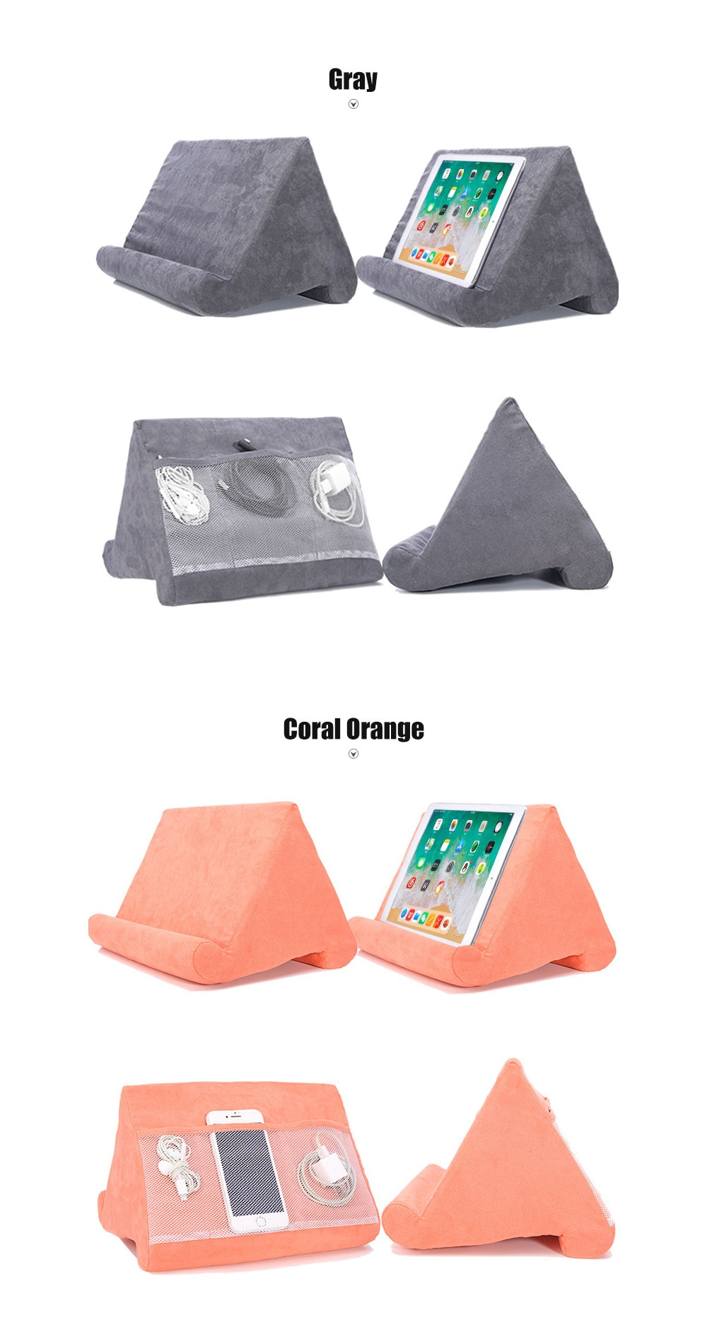 Sponge Pillow Tablet Stand Tablet Holder Phone Support Bed Rest Cushion Tablette Reading Holder For iPad Samsung Huawei Xiaomi