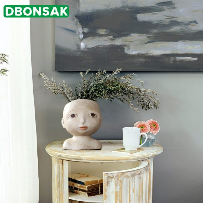 Head Flower Pot Home Decoration