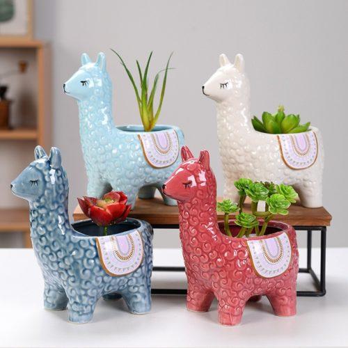 Llama Plant Pot Ceramic Planter