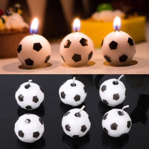 Ball Candles Soccer Design (6pcs)