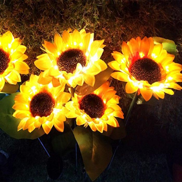 Sunflower Solar Lights Set (2pcs)