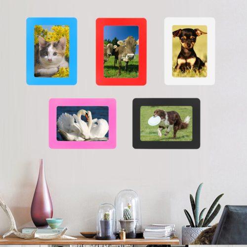 Magnetic Photo Frame Rubber Decor