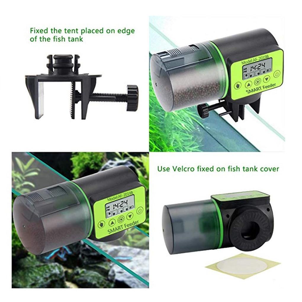 Automatic Fish Feeder Aquarium Digital Fish Tank Electrical Plastic Timer Feeder Food Feeding Dispenser Tool Intelligent timing