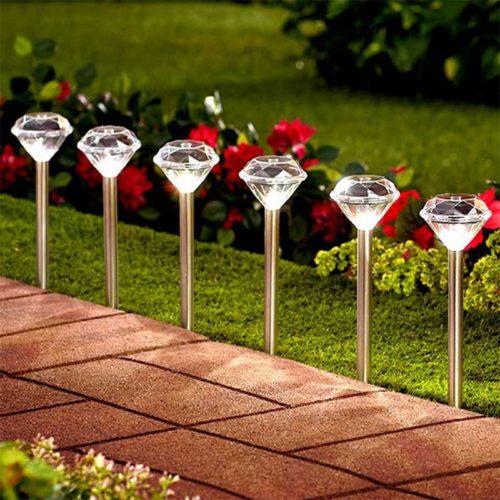 Solar Sidewalk Lights Diamond Shape