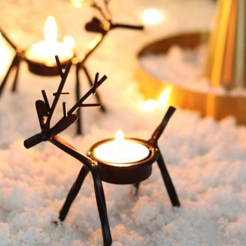 Reindeer Candle Holder Decoration