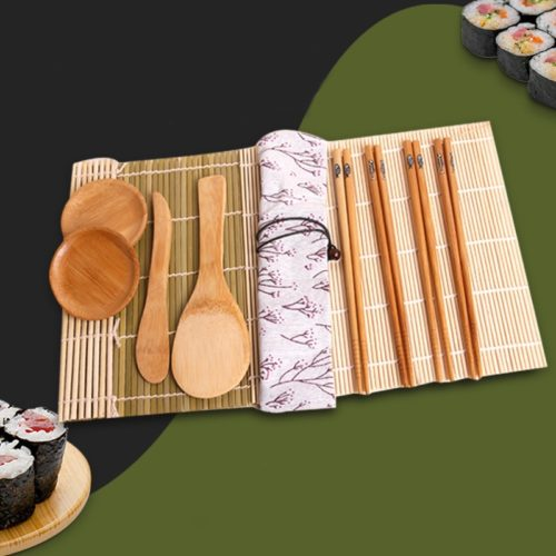 Wooden Sushi Tools Set (11 Pcs)