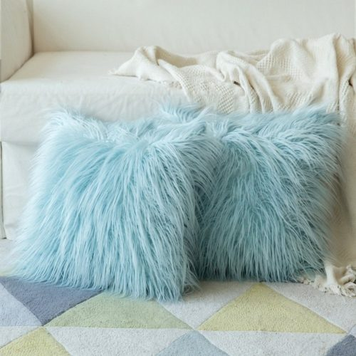Fluffy Pillow Case Plush Cover