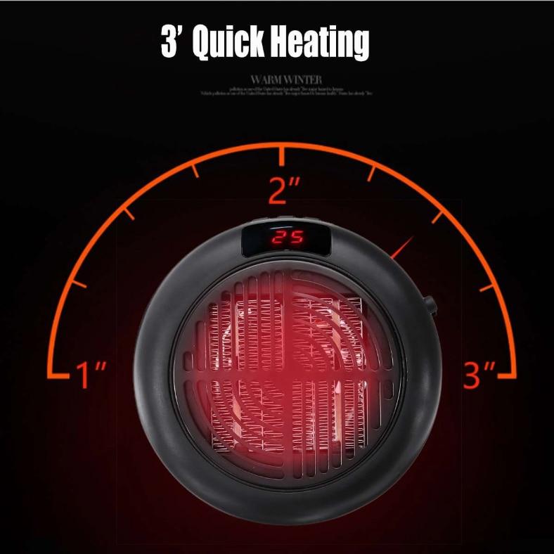 900W Fan Heater For Home Mini Electric Heater Heating Electric Warm Air Fan Office Room Heaters Handy Air Heater Warmer Fan