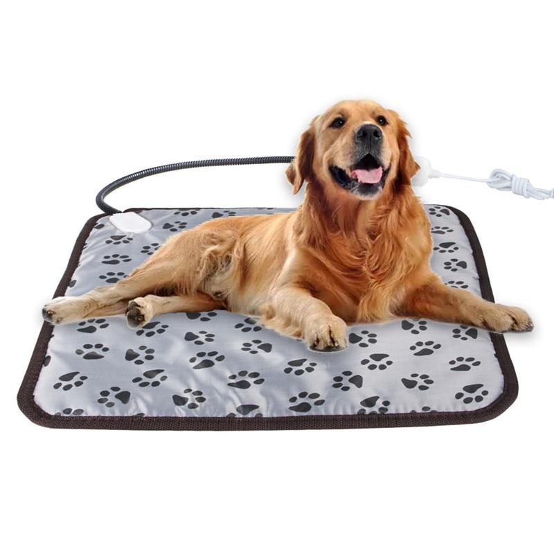 45cm*45cm Pet Waterproof Electric Heating Pad 3-mode Winter Dog Bed Heater Cat Warm Blanket EU/US Plug