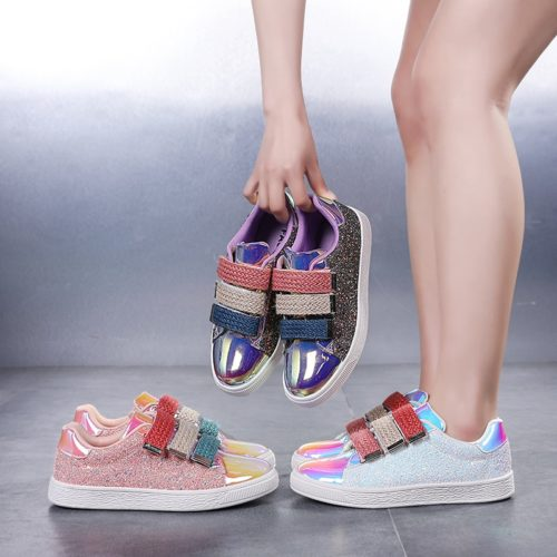 Fashionable Womens Glitter Sneakers