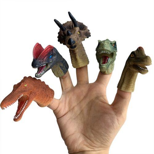 Dinosaur Finger Puppets Plastic Toys (5pcs)