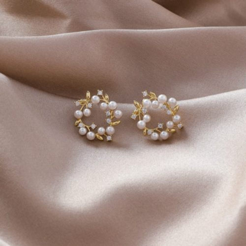 White Pearl Earrings For Women