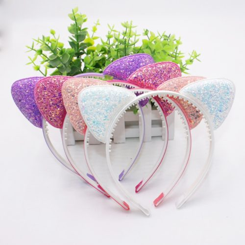 Kitty Headband with Sparkling Ears