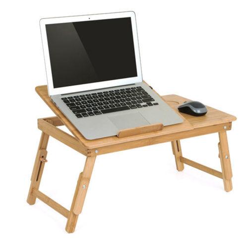 Wood Laptop Table Foldable Desk