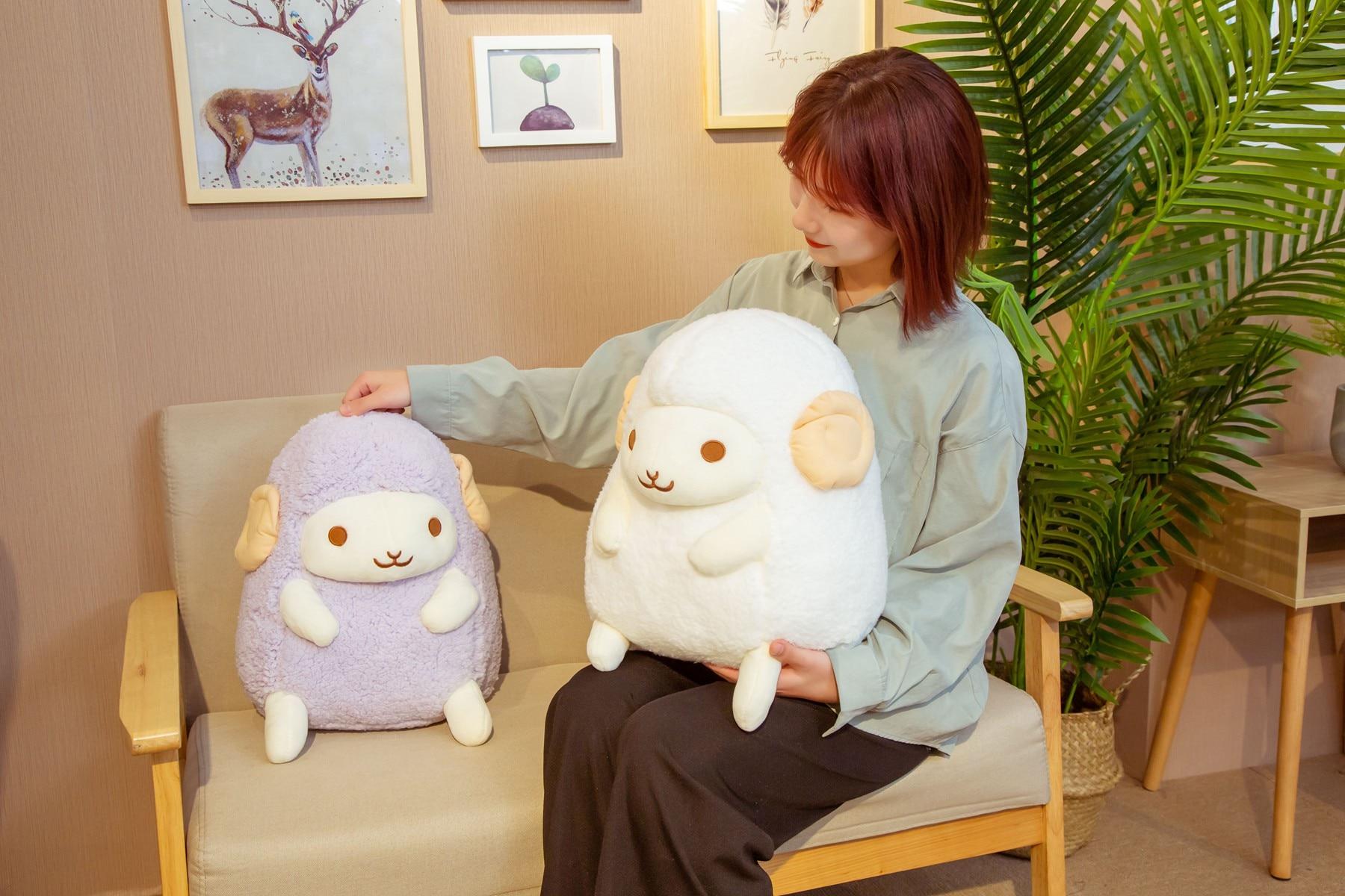 Lovely Dreamful Angel Sheep Plush Toys Stuffed Animal Lamb Doll Soft Pillow Baby Kids Girls Kawaii Birthday Gift Room Decoration