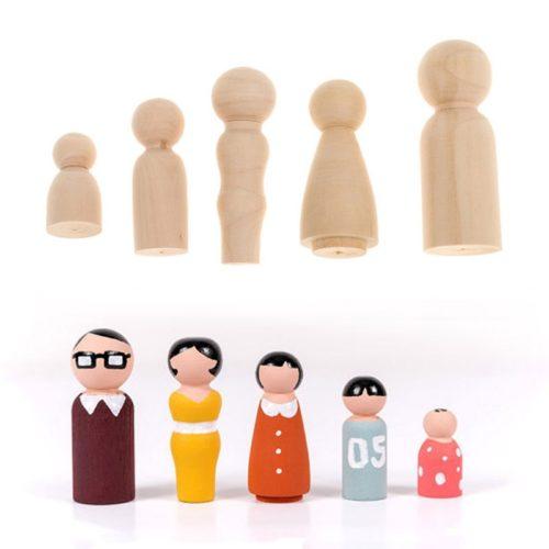 Peg Doll Family DIY Set (5pcs)