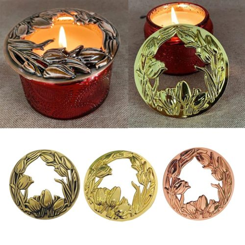 Candle Topper Metal Jar Candle Lid