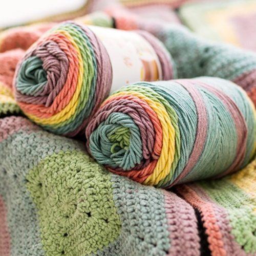 Multi Colored Yarn Rainbow DIY String