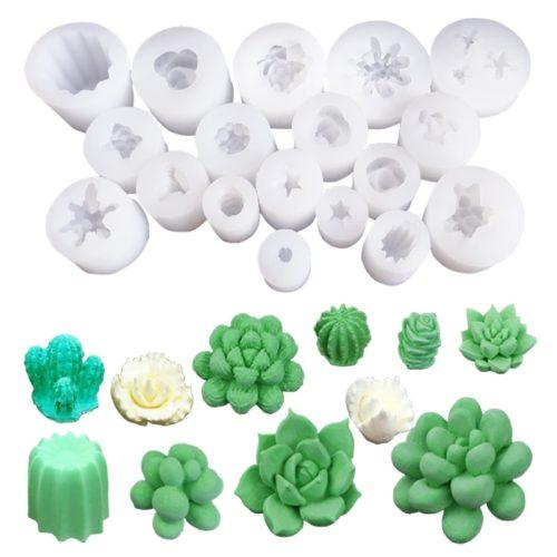 Silicone Wax Mold 3D Cactus Design