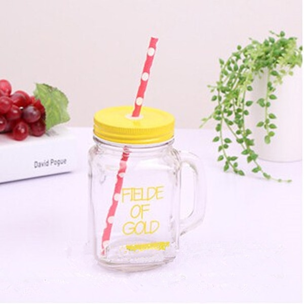 15oz Double Wall Insulated Mason Jar Tumbler Mug With Stainless Steel Lid And Dot Straws For Birthday Party Event Supplies