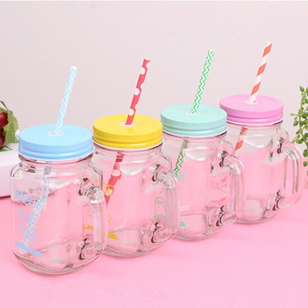 Mason Jar with Straw 15oz Mug