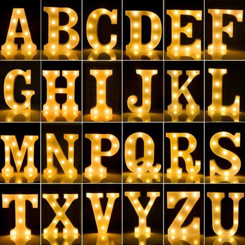 Luminous Plastic LED Letter Lights