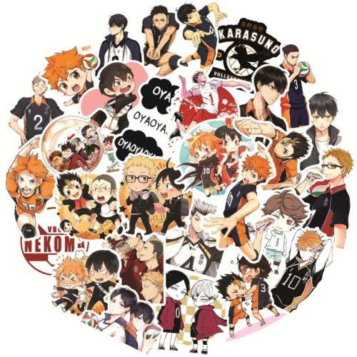 Haikyu Stickers PVC Anime Decals (50pcs)