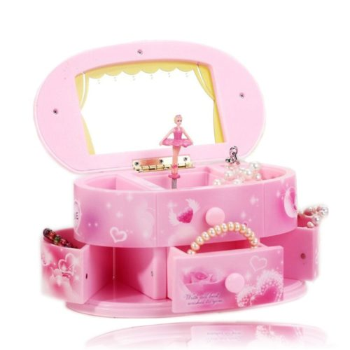 Hand Crank Ballerina Musical Jewelry Box