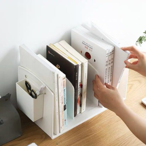 Mini Bookcase Plastic Desk Organizer