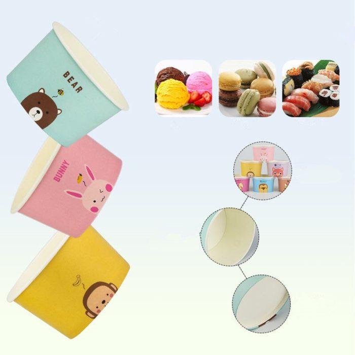 Colorful Ice Cream Paper Cups (50 Pcs)