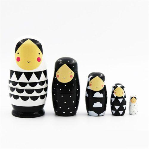 Matryoshka Nesting Dolls Wooden Decor